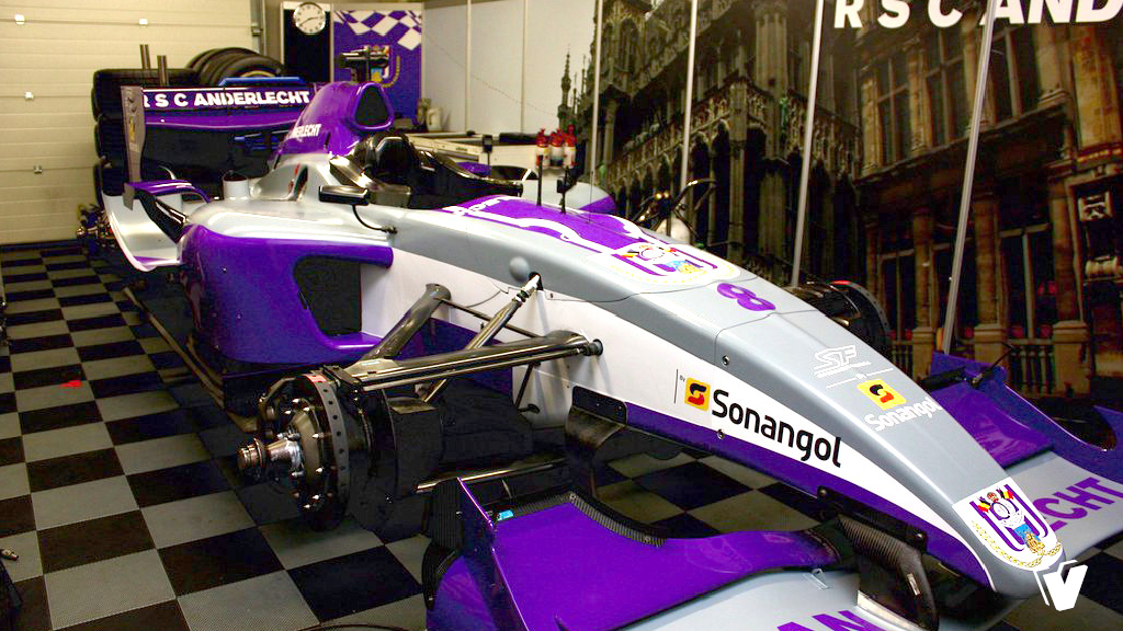 Belettering Superleague Formula car RSC Anderlecht