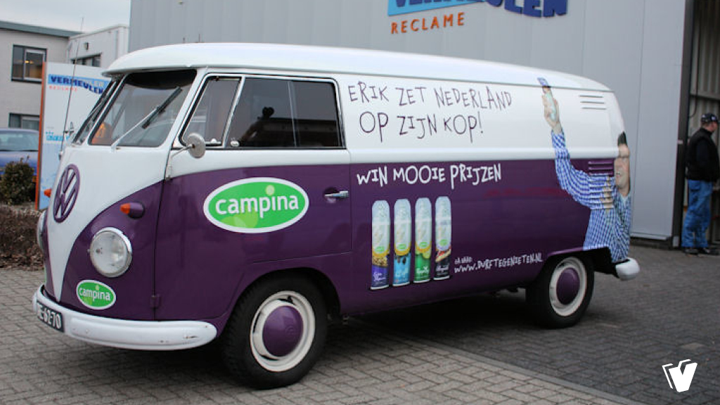 Belettering Volkswagen T1 Transporter Campina