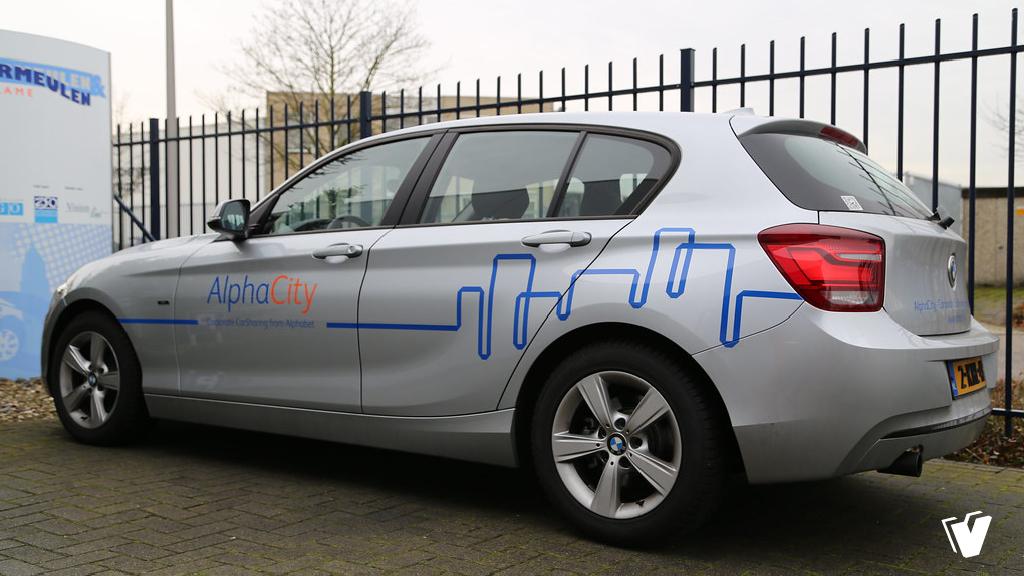 Belettering BMW 1 serie AlphaCity, Alphabet car lease