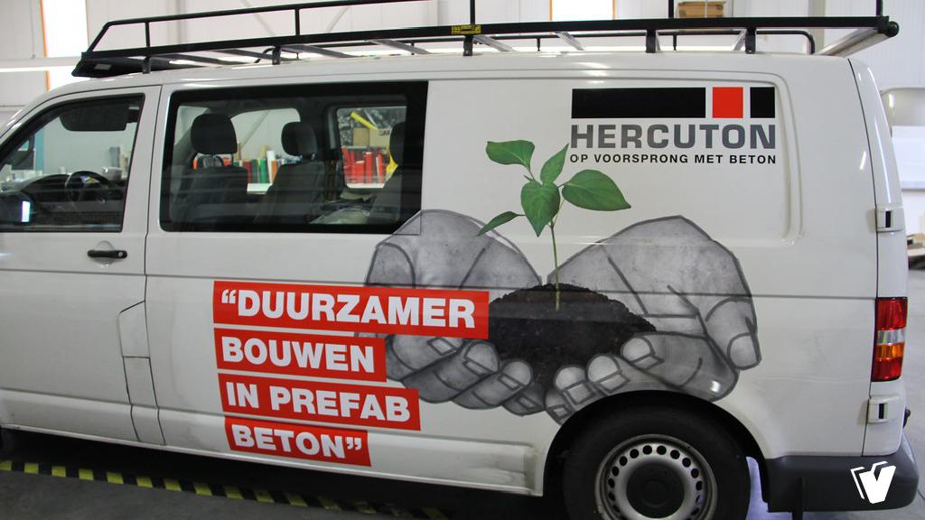 Autobelettering Volkswagen Transporter Hercuton